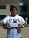 Mount Carmel football player Sal Arceo