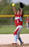 Hanover Central pitcher Abby Stewart delivers