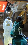 Valparaiso University's Vashil Fernandez is fouled 