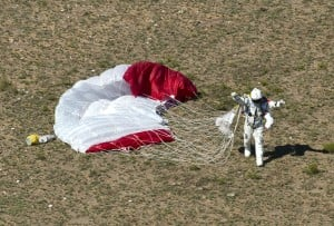 Skydiver lands safely after 24-mile leap to Earth