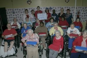Residents show soldiers they care