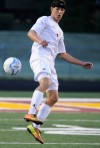Chesterton's Jason Garmany attempts to deflect the ball against Crown Point on Wednesday night.