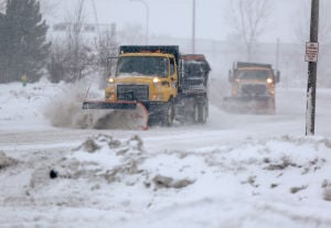 Hazardous driving conditions remain following Monday's snow
