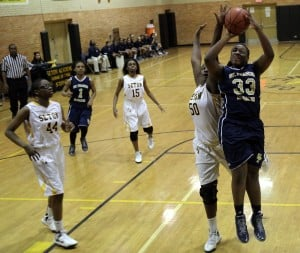 Lady Sting hold off St. Francis de Sales