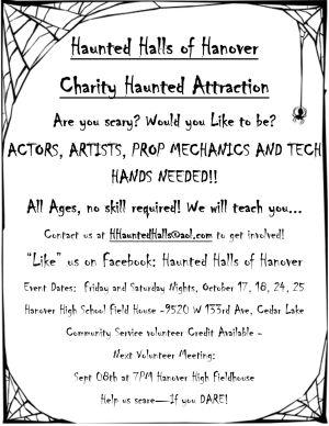 Haunted Halls volunteers