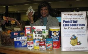 Library collects Food for Fines