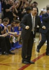 Lake Central coach Dave Milausnic yells orders during Saturday's Class 4A Lafayette Jeff Semistate.