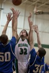 Illiana Christian's Noah Van Drunan shoots past
