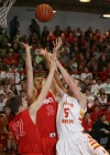 Munster's Drew Hackett and Nate Bubash battle Andrean's Daniel Keilman for a rebound