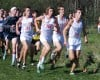 Valparaiso runners, from left, Pat Dalton, (267), Ari Coulopoulos (266), Landon Davison (268) and Peyton Reed (