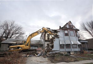 Historical Valpo building razed for parking lot