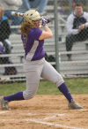 Hobart's Brianna Kraft bats in a game against Wheeler.