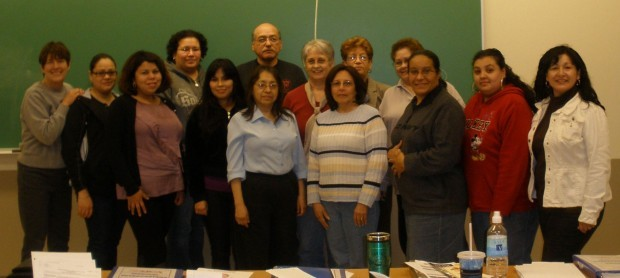 Participating in a recent course to train professional English/Spanish medical interpreters are, front row from left, instructor Maria Schwieter; Susana Jimenez, of Hammond; Jessica Starkey, of Hammond; Isabel Reyes, of Porter County; Mary Ellen Castello, of Gary; Maria Anaya, of East Chicago; Noemi Orellana, of Hammond; Carmen Vazquez, of East Chicago; Lillian Torres, of Hammond; back row, Brenda Osoria, of Valparaiso; Jose Valtierra, of Merrillville; Bilke Rode, of East Chicago; Sylvia Morrisroe, of Lake County, and Maria Watkins, of East Chicago.