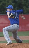 Lake Central's Aaron Glatt pitched against Portage on Friday.