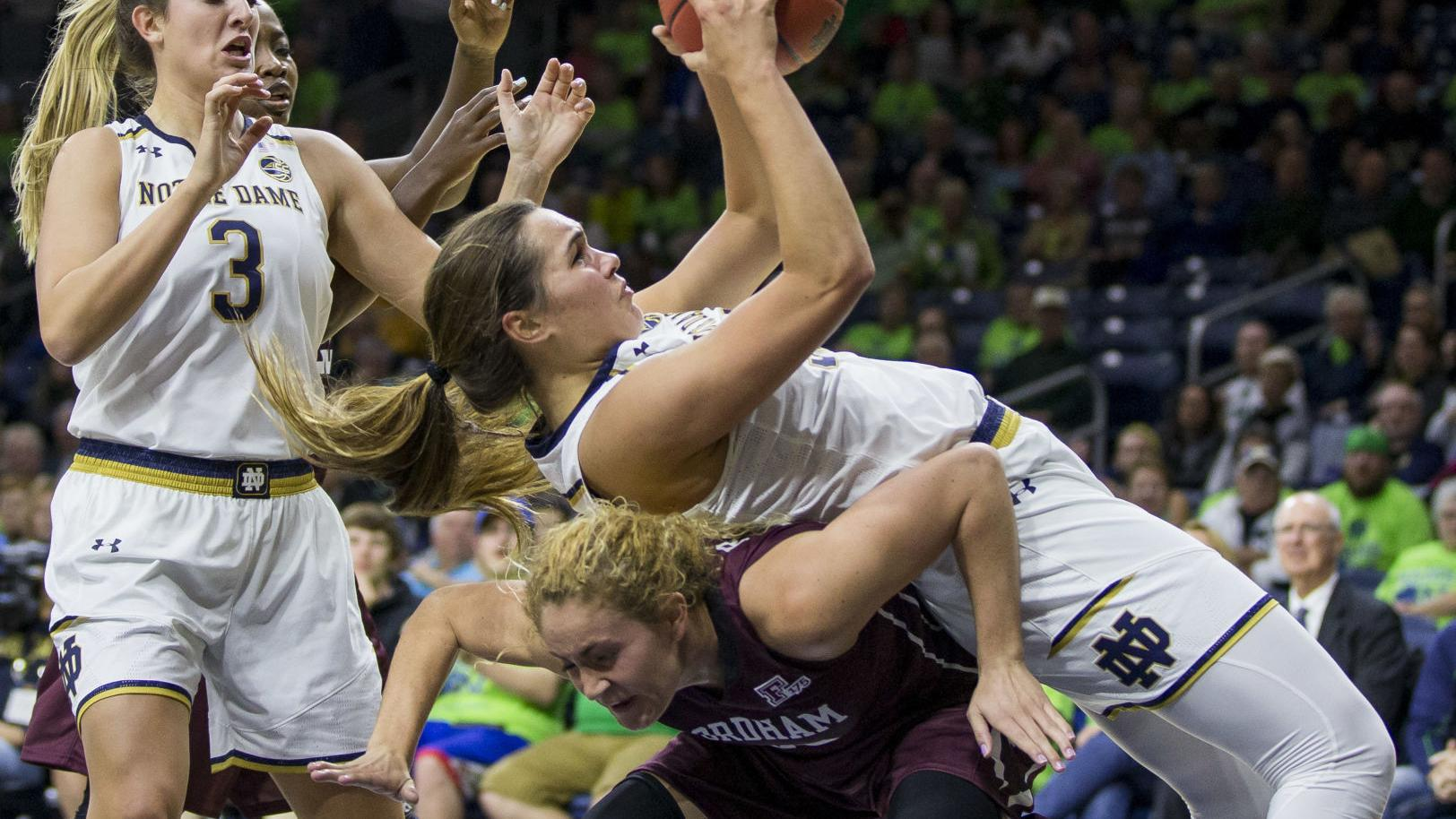 Ogunbowale leads top-ranked Irish to 67-36 win over Fordham | Notre Dame Fighting Irish Basketball | nwitimes.com