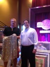 Four Winds Casino Resort General Manager Matt Harkness and Hard Rock Memorabillia Designer David Holle with Michael Jackson's Jacket