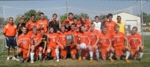 Bearcats hold off Wildcats for first boys soccer sectional title