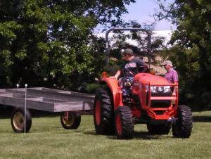 Area youths test their tractor driving skills