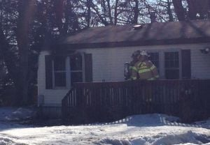 Firefighters battle mobile home blaze in Washington Township