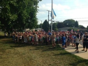 Myers students plant pinwheels for peace