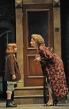 "Christine Sherrill as Miss Hannigan Opposite Caroline Hefferman as Annie in ""Annie"""