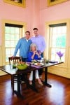 Paula Deen with sons Bobby (left) and Jamie