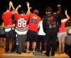 Blackhawks fans celebrate in Chicago