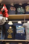 ND, IU success leads to increased merchandise, apparel sales