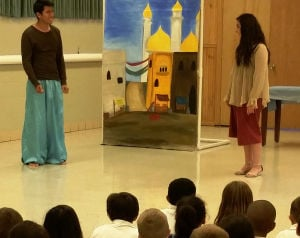 Windy City Players perform Aladdin for OLG students