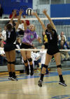 Valparaiso's Danielle Suiter; Lake Central's Alyssa Stepney and Victoria Gardenhire