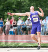 Hobart's Ernest Ray was 12th in the discus at Saturday's state meet.