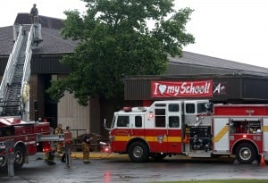 Crown Point school hit by lightning