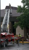 Lightning hits Timothy Ball Elementary School