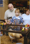 "Potempa Farm Rooster ""Oscar"" at 2004 Book Signing Parking at Barnes and Noble in Merrillville"