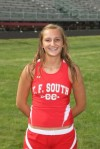 T.F. South runner Jessica Fierce
