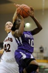 Merrillville's Dariyan Morris drives for a layup against Warsaw in the Class 4A Valparaiso Regional championship Saturday.