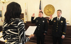 Two Calumet City officers promoted