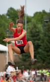 Kankakee Valley's Jenna Jungels placed eighth in the long jump at Saturday's IHSAA girls track and field finals.