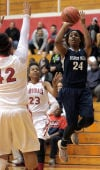 Bishop Noll's Naomi House shoots over E.C. Central's Jasmine Briscoe