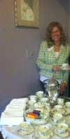Sara Heinold with Anitique Tea China Set