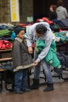 Coats for kids given away