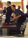Tyler Trombetta, left, and Mike Kubacki bowl Saturday during the qualifying round for the 65th annual Times/Pepsi Classic at Olympia Lanes in Hammond.