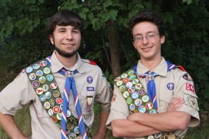 Boy Scout buddies both earn Eagle Award of the Year honors