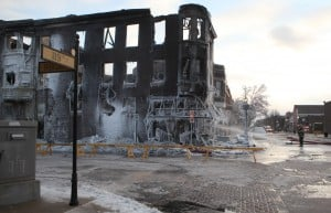 Officials: January fire in downtown Whiting may have been set 