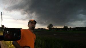Weather watcher undaunted by wind, lightning