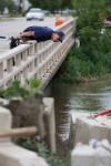Little Calumet reaches flood level