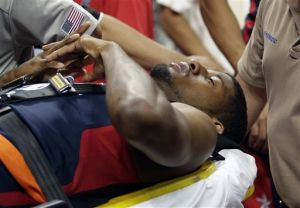 Doctors say Pacers' George faces long rehab process
