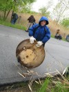 Scouts clean up around Wolf Lake