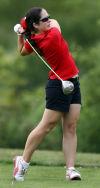 Crown Point's Alyssa Harvey tees off on No. 13