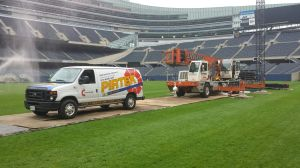 Local company averts groundskeeping disaster at Soldier Field